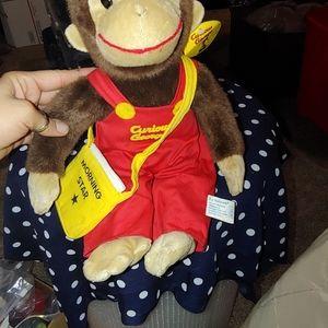 Curious George stuffed animal
